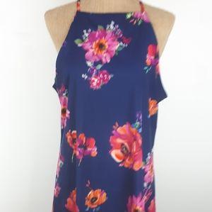Dresses & Skirts - Bold colored flower dress/top versatile!